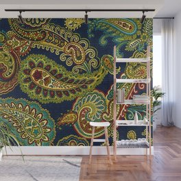Floral Paisley Pattern 05 Wall Mural