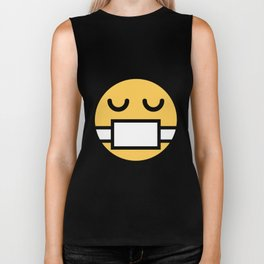Smiley Face   Nurse Mouth Protection Biker Tank