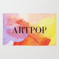 artpop Area & Throw Rugs featuring ARTPOP  by IngCK