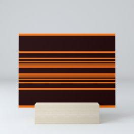 Orange horizontal lines. Mini Art Print