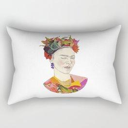 Winking Frida Kahlo collage Rectangular Pillow