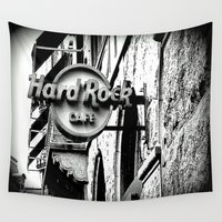 cafe Wall Tapestries featuring Hard-Rock-Cafe by Laake-Photos