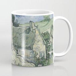 Vincent van Gogh - Thatched Cottages at Cordeville Coffee Mug