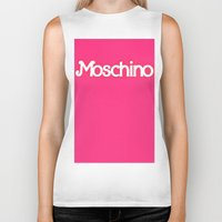 moschino Biker Tanks featuring Moschino Barbie by RickyRicardo787