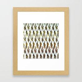 Boho Feather Pattern Framed Art Print