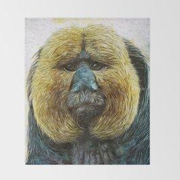 Animaline - Saki monkey Throw Blanket