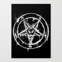 pentagram Canvas Prints featuring Stanic Pentagram by Maioriz Home