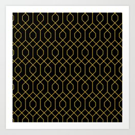 New York City Gold and Black Art Deco Art Print