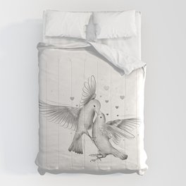 Bird couple love Comforters