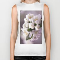 cherry blossom Biker Tanks featuring Cherry blossom by LoRo  Art & Pictures