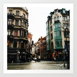 Streets of Brussels Art Print