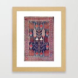Khila Baku Southeast Caucasus Rug Print Framed Art Print