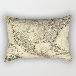 L'Amérique Septentrionale, Map of North America (1757) Rectangular Pillow