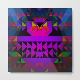 Aztec Multi Colored Triangle Abstract Metal Print
