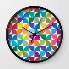 Geometrical work - Colours rotation Wall Clock