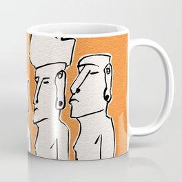 Moai statues in ink Coffee Mug