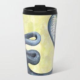 Cobra on Limegreen Background Travel Mug