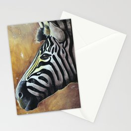 Zebra - Alfred the Traveler - by LiliFlore Stationery Cards