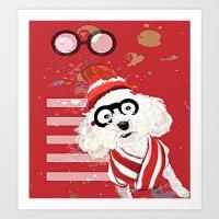 waldo Art Prints featuring Wheres Waldo by grapeloverarts