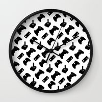 gamer Wall Clocks featuring Gamer by C. Wie Design