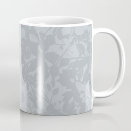 Broken but Flourishing Floral Pattern - Grey Coffee Mug