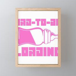 Baby Girl Dad to Be Loading Fun Father's Day Gift Framed Mini Art Print