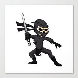 skull ninja cartoon. Canvas Print