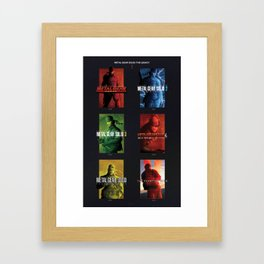 "Metal Gear Solid ""Legacy"" Tribute Poster Framed Art Print"