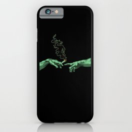 Michelangelo Hands Joint Sharing Cannabis iPhone Case