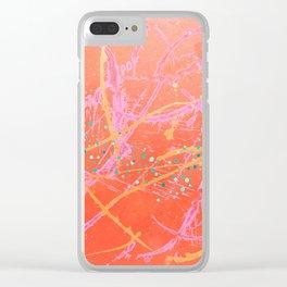 Bubblegum Pink Synchronized Splash 2 Clear iPhone Case