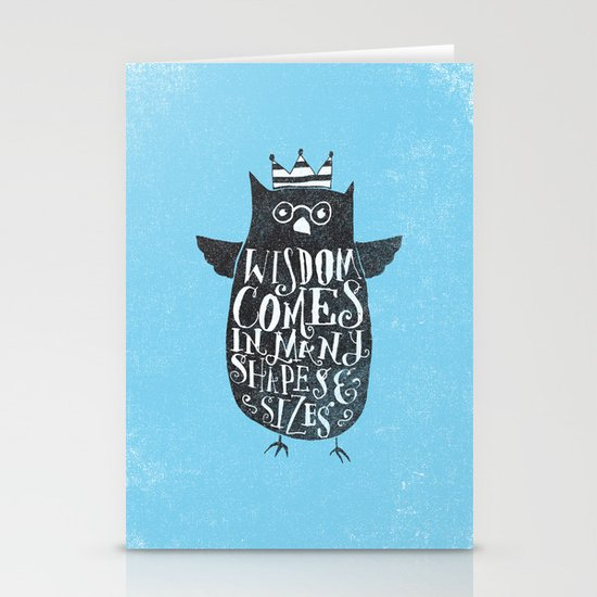 WISDOM COMES IN MANY SHAPES & SIZES Stationery Cards