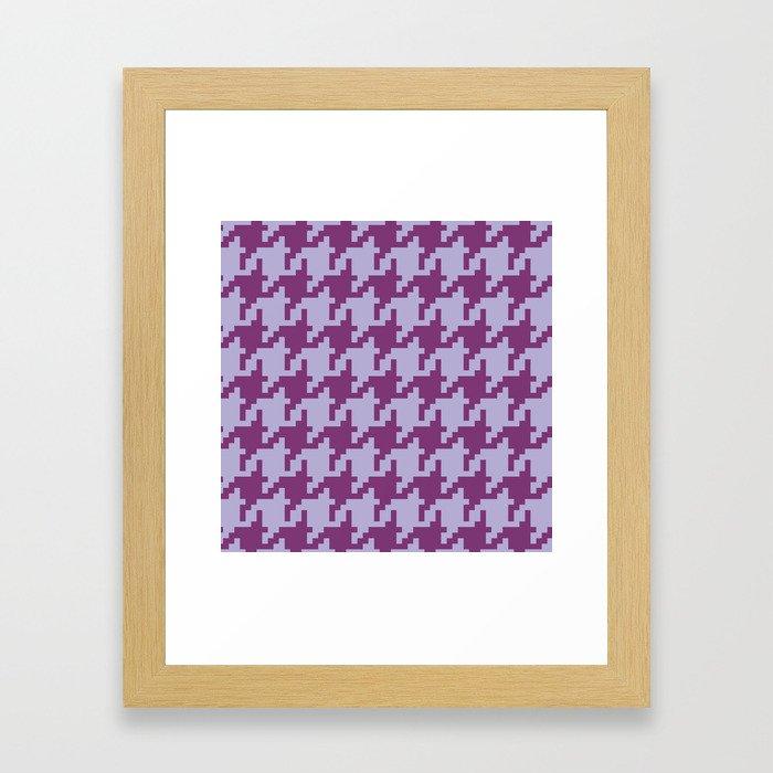 Houndstooth - Purple Framed Art Print