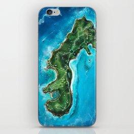 Water Island Map iPhone Skin