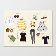 My (...not so new) spring wardrobe! Canvas Print