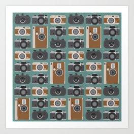 Analogue cameras Art Print