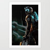 dead space Art Prints featuring Dead Space  by JAGraphic