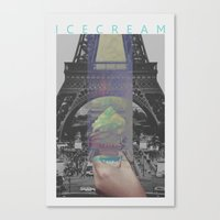 icecream Canvas Prints featuring Icecream by john muyargas