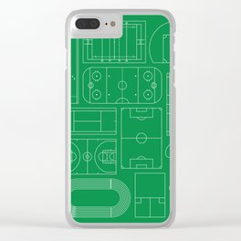 Sport Courts Pattern Art Clear iPhone Case