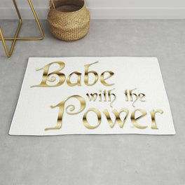 Labyrinth Babe With The Power (white bg) Rug