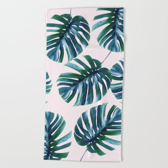 Monstera Pattern #society6 #decor #buyart Beach Towel