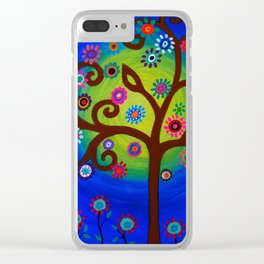 Whimsical Tree of Life Summer Dreams Painting Clear iPhone Case