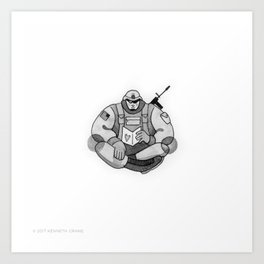 2017 Inktober #8 Art Print
