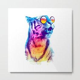 Funny Big Cat Metal Print