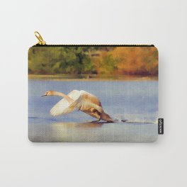 """""""On the Run""""  - Mute Swan Carry-All Pouch"""
