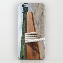 Rope on the tiller iPhone Skin