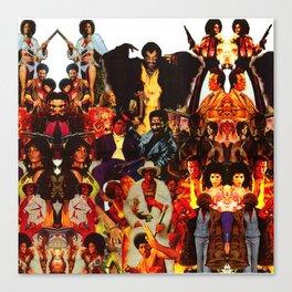 The Black Invasion Canvas Print