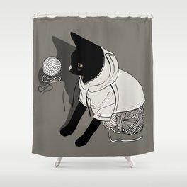 PAWS UP! Shower Curtain