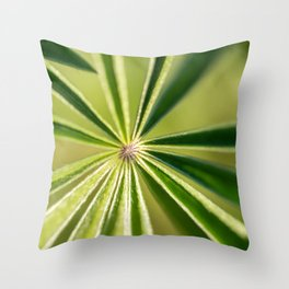 Lupine Leaves Throw Pillow