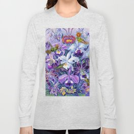 Orchids & Hummingbirds Long Sleeve T-shirt