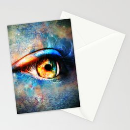 Through the Time Travelers Eye Stationery Cards